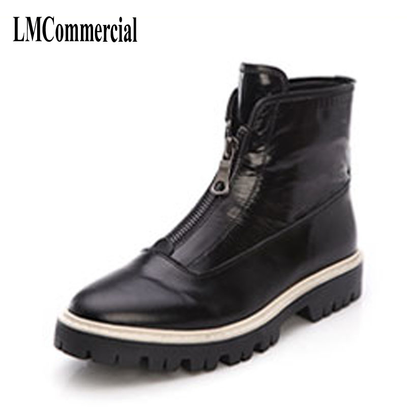 New men autumn and winter leather boots,men shoes zipper leather shoes breathable sneaker fashion boots men casual shoes martin boots men s high boots korean shoes autumn winter british retro men shoes front zipper leather shoes breathable