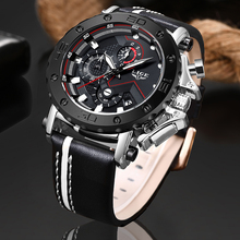 Relogio Masculino 2019 New LIGE Sport Chronograph Mens Watches Top Brand Luxury Casual Leather Waterproof Date Quartz Watch Man