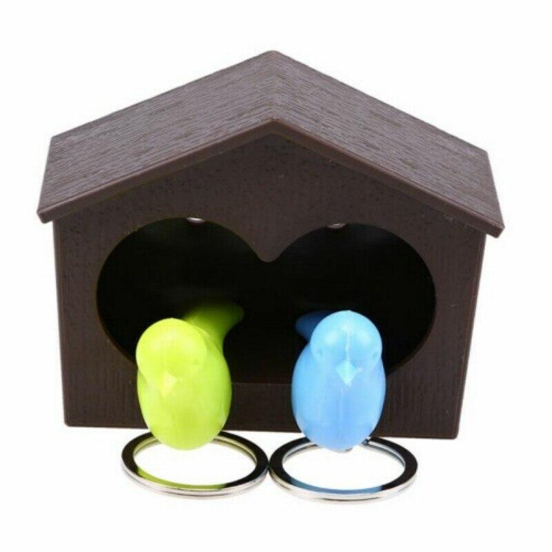 Vogel Haus Key Holder Chain Nest Whistle Ring Schlüsselanhänger Random DE