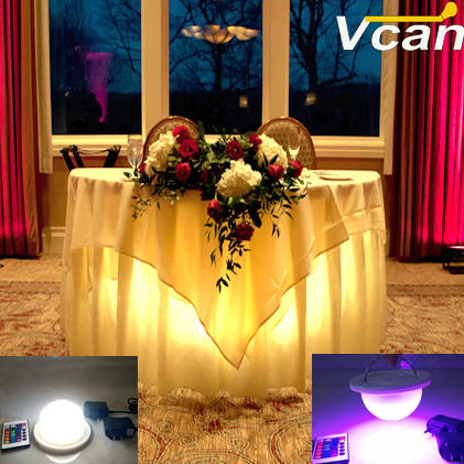 Us 418 0 New Dhl 10pcs Rechargeable Super Bright Rgbw Led Under Table Lighting For Weddings Event Party Cloth With Remote In Stage