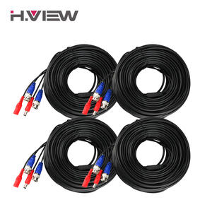 H.View 4PC CCTV BNC Power Cable AHD Camera Video