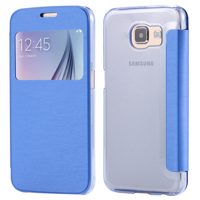 reputable site 709be e3abf US $4.98 |For Samsung Galaxy S6 Edge Plus S7 Edge Cases Ultra Flip Cloth  Pattern View Window Case For Samsung Galaxy S6 Edge Plus S7 Edge on ...