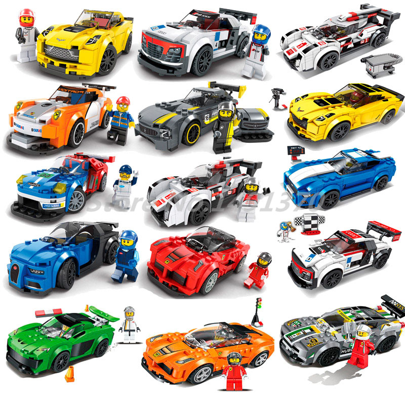 Super Racers Building Blocks Compatible Legoedly City Racing Car Model Speed Champions Style Toys For Children Christmas Gifts 8 styles city series racing car building blocks compatible legoed speed car racers figures diy models bricks toys for children