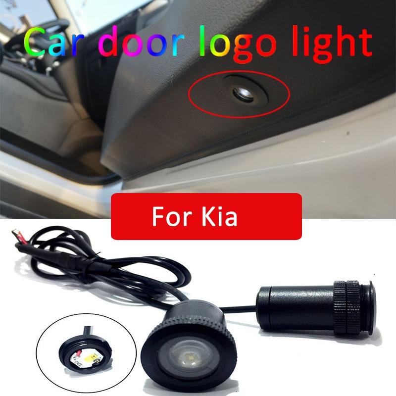 2pcs Led car door light For Kia rio 3 4 5 ceed sportage 2018 sorento soul cadenza forte Logo Laser Projector Light Accessories