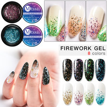 Mtssii 5ML 8 Colors UV LED Lamp Nail Gel Bling Glitter Soak Off Semi Permanent Lucky Lacquer Fireworks Gel Nail Polish(China)