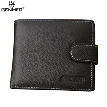 GENMEO New Arrival Genuine Leather Wallet Men Cow Leather Purse with Card Holders Men Clutch Bag for Cards and Money Bolsa цена в Москве и Питере