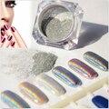 FANALA Nail Powder Espejo Pegatinas Nail Art Decoraciones 1 Caja de Polvo de Uñas Purpurina En Polvo Láser Espejo Cromo Decoración de Plata
