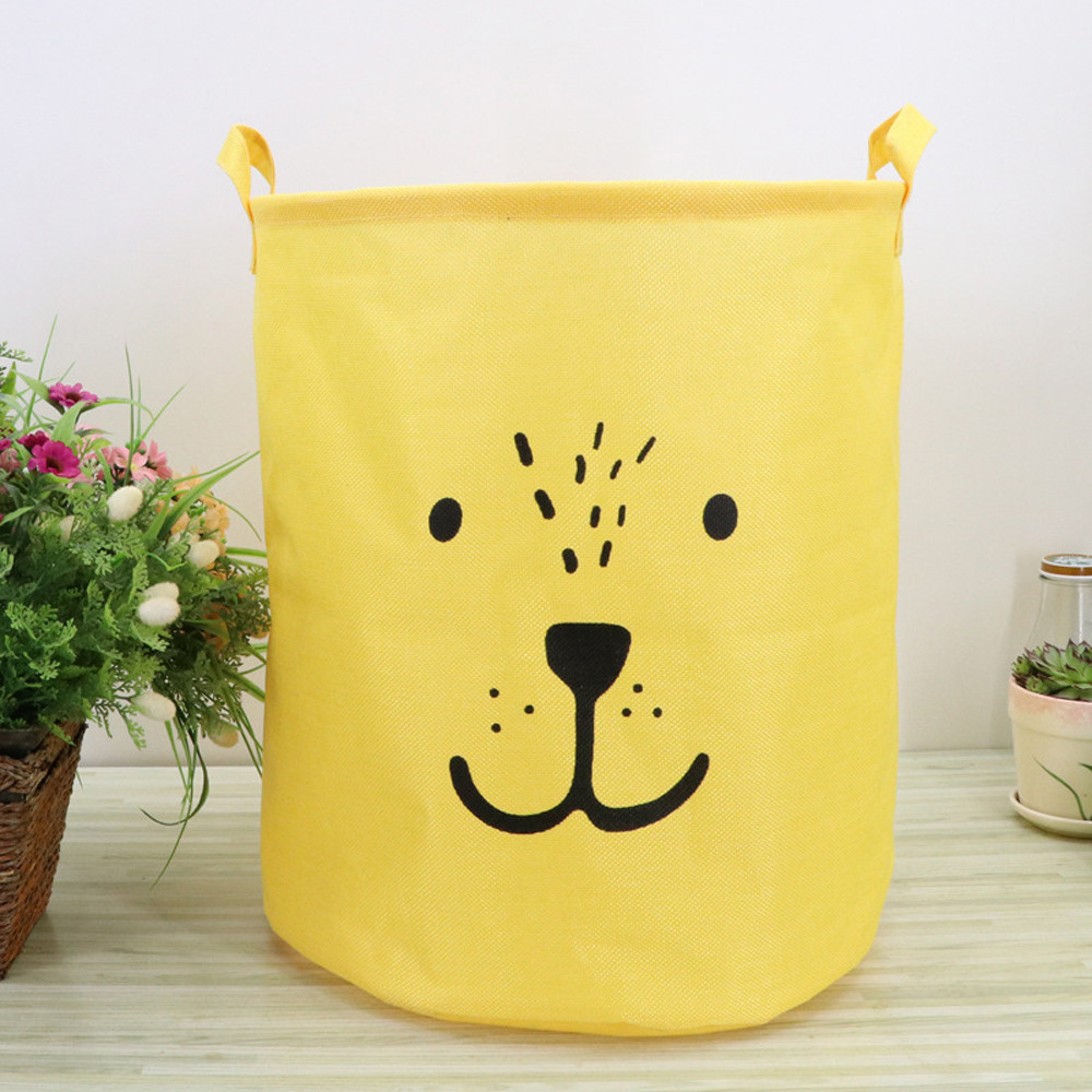 Square Collapsible Canvas Storage Box Foldable Kids Toys: Waterproof Canvas Laundry Clothes Basket Storage Letter