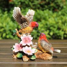 цена на ceramic flower bird lovers figurines home decor ceramic kawaii ornement crafts room decoration porcelain animal figurine