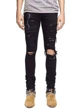 American Street Style Fashion Men Jeans Slim Fit Snake Embroidery Punk Ripped Jeans Men Brand Designer Streetwear Hip Hop Jeans цены онлайн