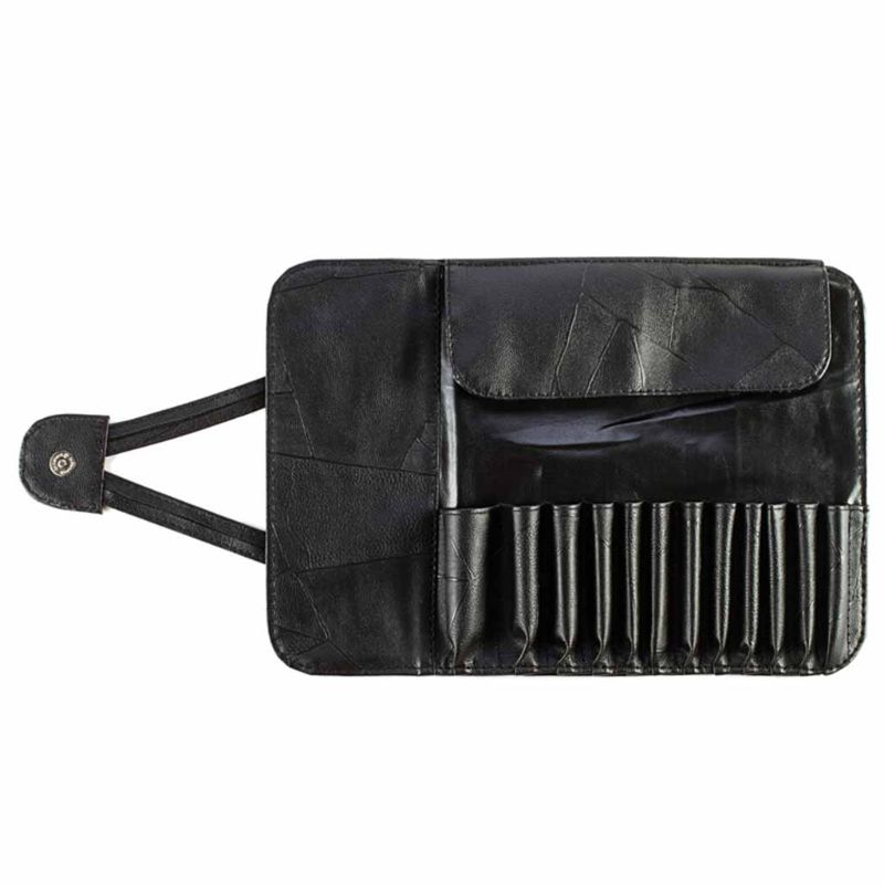 Professional 12/24 Slot Makeup Brush Holder Cosmetic Organizer Rolling Bag Case Container Pouch Bags