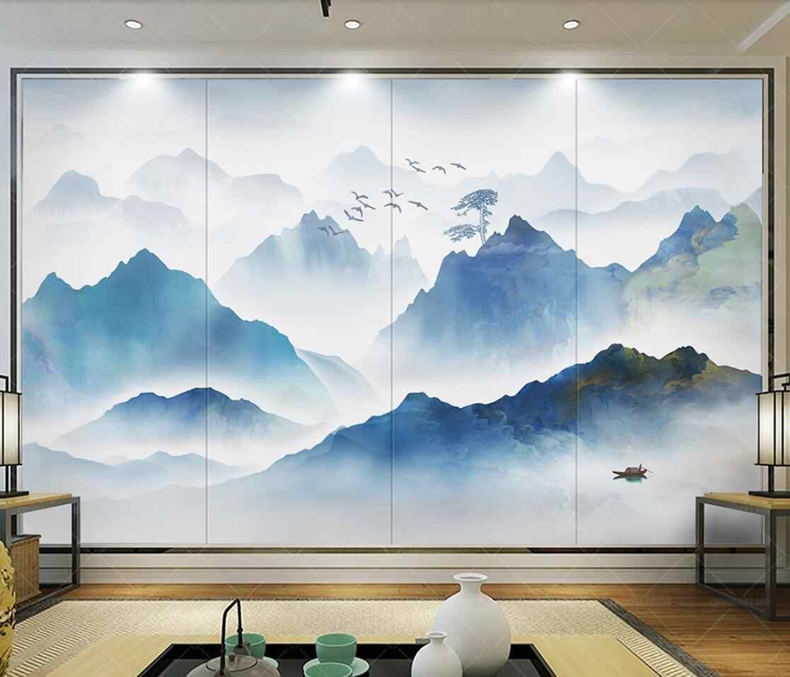 Abstract Forest Mountain View Mural Wall Paper 3d Canvas Wallpaper Art Wall Painting Home Contact Paper Custom