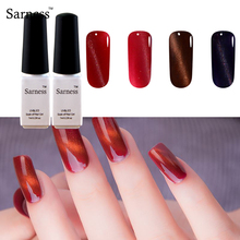 Sarness Magnetic Gel Varnish 3D Cat Eye Gel Polish Nail Art Magnet Soak Off Led UV Gel Lacquer cheap nail top base coat