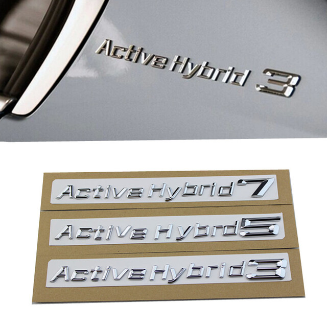 1set for bmw performance active hybrid 3 5 7 trunk bumper number letters badge emblem tuning
