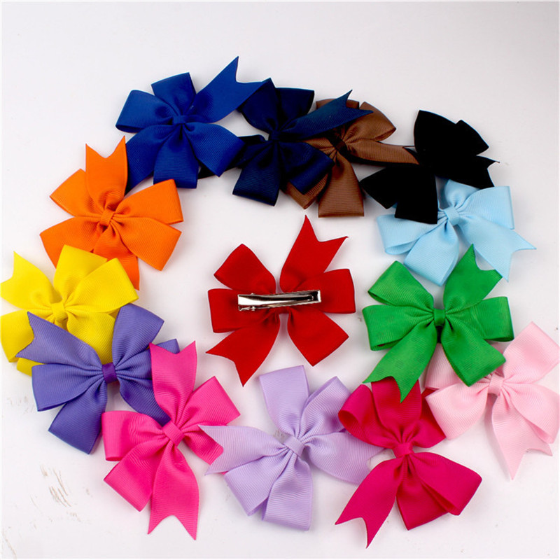 Sale Popular Baby Colorful Ribbon Bow Cute Girls Hairpins Children Hair Clip Hair accessories Headwear baby cute style children accessories hairpins rabbit fur ear kids girls barrette lovely hair clip