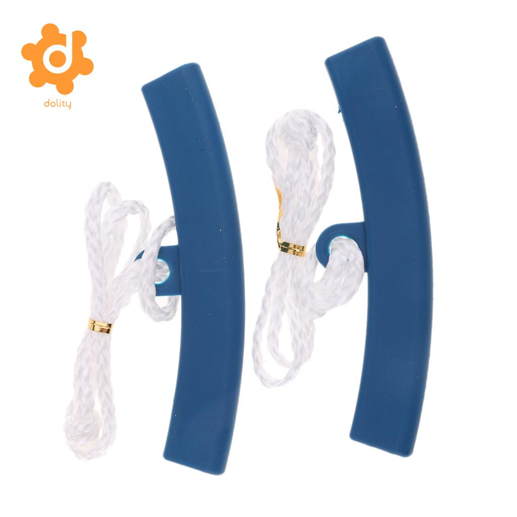 dolity 2x Plastic Blue Universal Motorcycle Wheel Rim Protector Strips Changing Tyre Fixing Tool with 30cm/11.8inch Rope