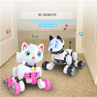 RC Robot Cats Electronic Dogs Remote Control Pet Children Toys Baby Playmate Electronic Pet Cat Intelligent Robot Birthday Gift