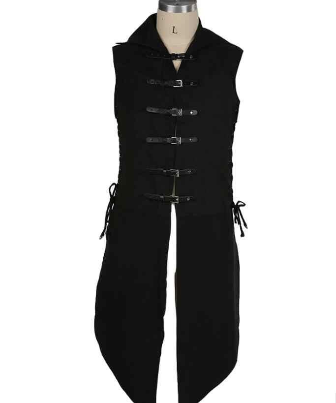 2018 คอสเพลย์ยุคกลางโจรสลัดชายด้านบน Renaissance Vest UP Outerwear นักรบไวกิ้งเสื้อ Warhead เครื่องแต่งกายชุดรบ