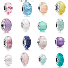 S925 Silver Multi-section Crystal Glass Bead Bracelet Accessories Suitable Fits Pandora Charm Base Bracelet DIY Gift Jewelry