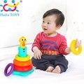 New Kids Rainbow Укладки Утка Детские Игрушки с Красочными Кольцо Штабелеры с Музыкой, звуки и Огни Большой Малыш Игрушки Подарки