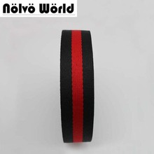 32 мм 1.2 дюймов шириной 1.5 мм толщиной черный, красный цвет twill узор нейлоновая лента Сумка ремни мужские ремень безопасности ремень безопасности
