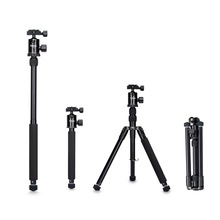 "Selens 150เซนติเมตร/62 ""สีดำมืออาชีพขาตั้งกล้องถ่ายภาพMonopodสำหรับกล้องDSLRแบบพกพาการเดินทางที่มีน้ำหนักเบาT Ripodeยืน"