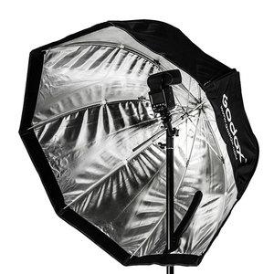 Image 4 - Godox 95cm 37.5in נייד אוקטגון Softbox מטריית Brolly רפלקטור מבזק פלאש