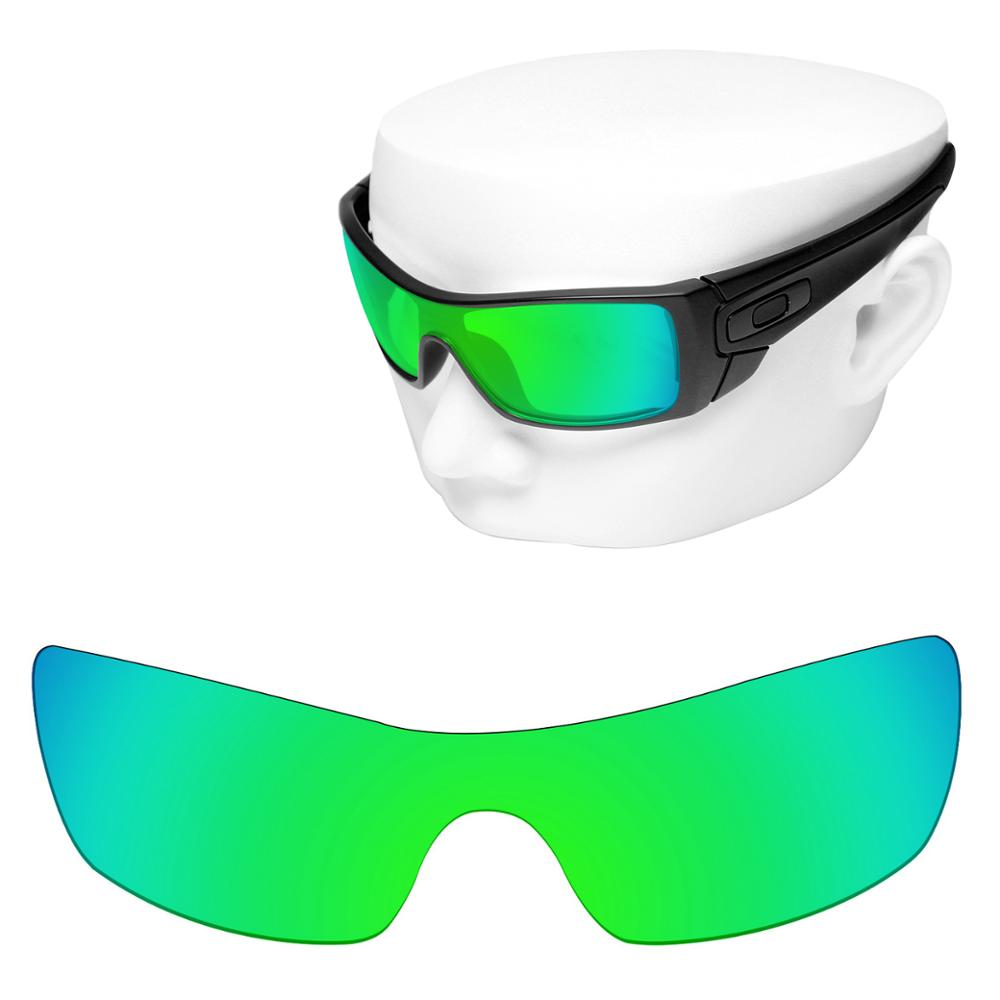OOWLIT Polarized Replacement Lenses Of Green Mirror For-Oakley Batwolf OO9101 Sunglasses