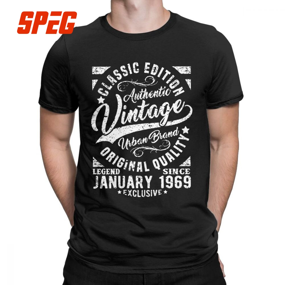 Detail Feedback Questions About Mens T Shirts Vintage Since January 1969 Retro Short Sleeves 50th Birthday Tees Crewneck Clothes Cotton Shirt 50 Years
