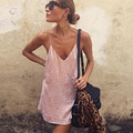 Brand Design Vestidos de Playa Women Sling Velvet Dress V-neck Strap Party Dress Winter Sexy Party Dresses Vestido Robes Mujer