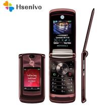 """100% d'origine Motorola RAZR2 V9 Débloqué Original 2.2 """"3G 2 GB 2.0MP GSM WCDMA Flip Téléphone Cellulaire"""
