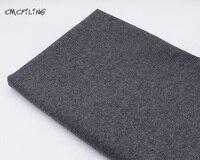 CMCYILING Single-Sided Flecking Gray Tweed Cashmere Wool Fabric for Autumn Winter OUTWEAR Coat Fabrics Felt Tissu Stoffa Meter