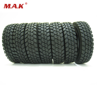 For Tamiya 1 14 Tractor Truck Trailer Climbing Car Rubber Tires Tyres 4 Pcs Set