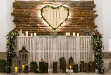 Laeacco Love Heart Wood Decoration Scene Party Photography Backdrops Customized Photographic Backgrounds For Photo Studio