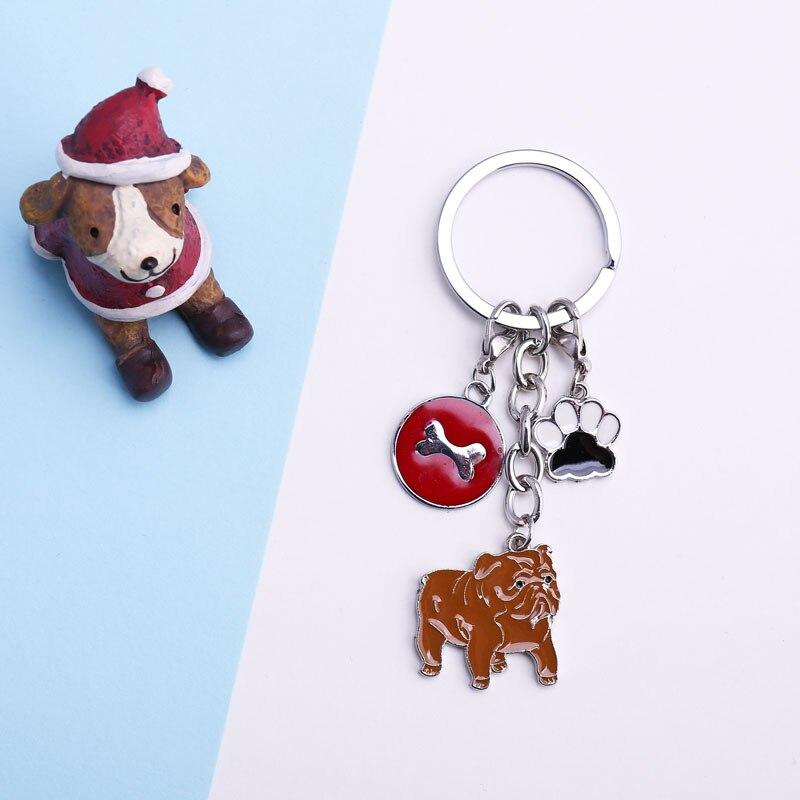 Dropwow Pet Dachshund Pug Dog Key Chain Metal Key Ring Pom Gift For ... afe6d14d6