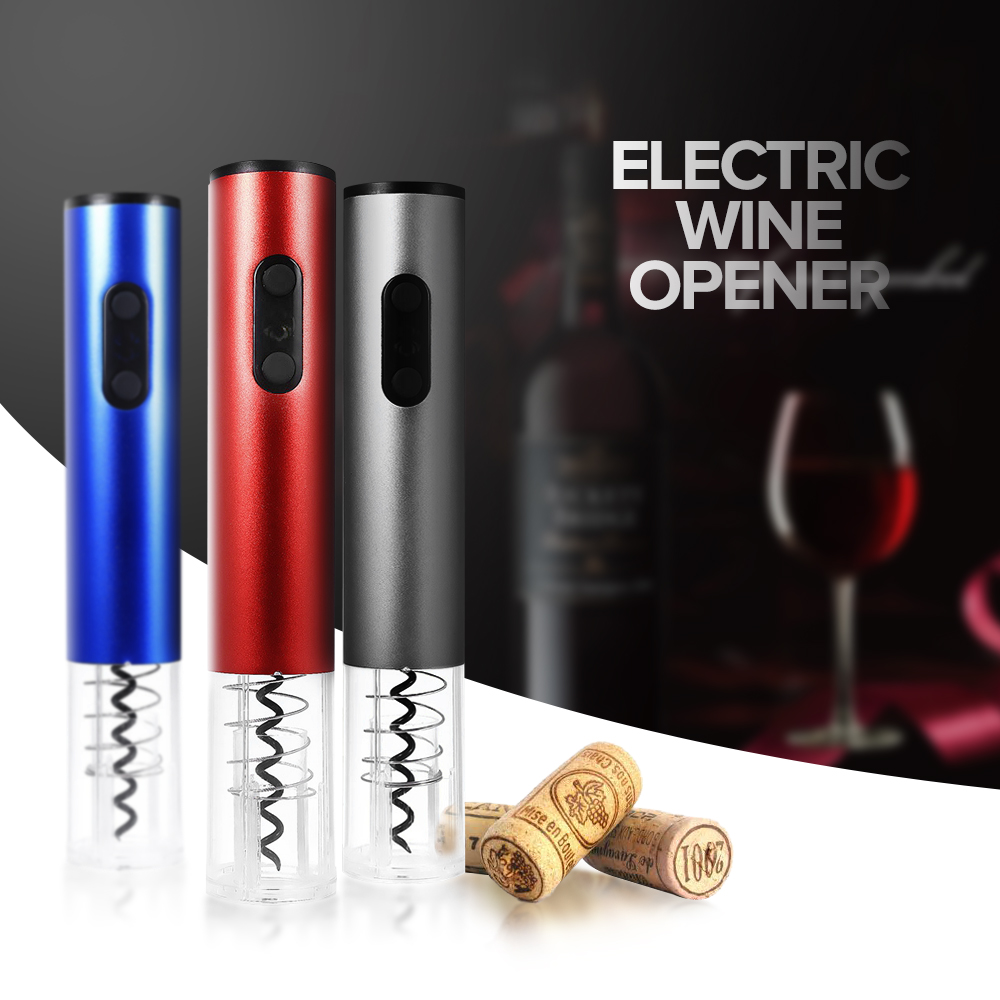 Original Electric Wine Opener Corkscrew Automatic Wine Bottle Opener Kit Cordless With Foil Cutter And Vacuum Stopper 2018 New