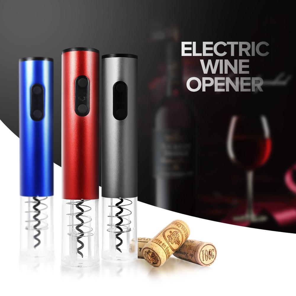 Original eléctricos abrelatas del vino sacacorchos automático Bottle Opener Kit inalámbrico con cortador de hoja y tapón de vacío 2018 nuevo