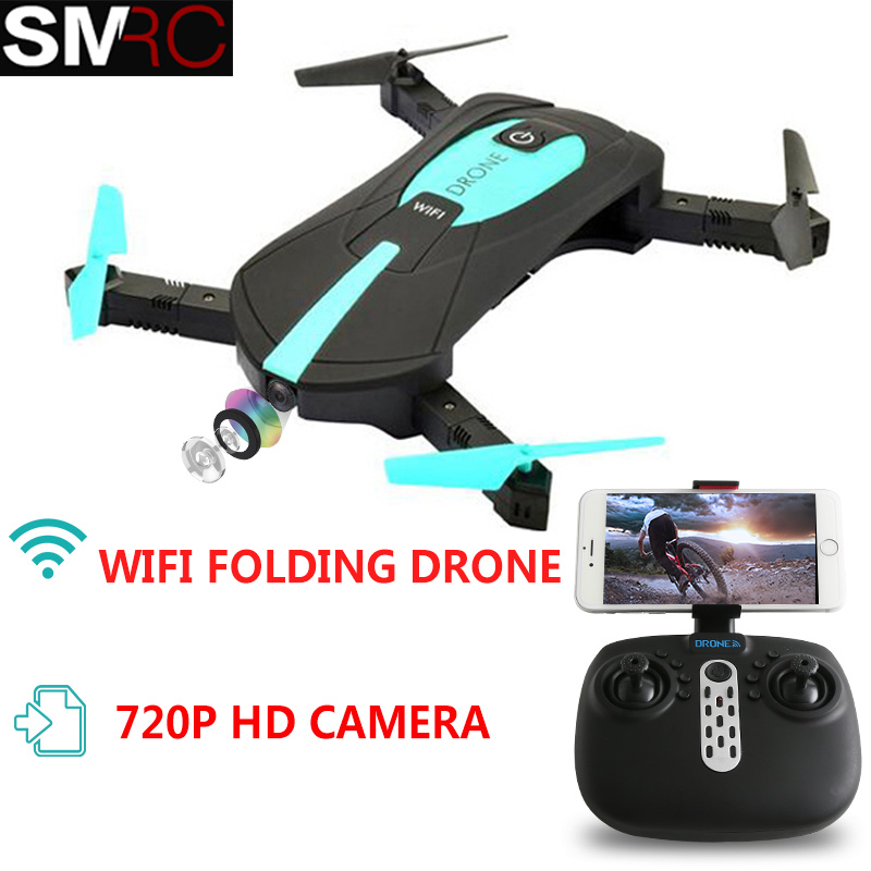 SMRC JY018 pocket drone with HD camera RC Quadcopter WiFi FPV Headless Mode Foldable Aerial flight remote control quadcopter feichao mini gw58 foldable selfile drone fpv 0 3mp 2 0mp hd camera pocket quadcopter remote and wifi control aircraft drone