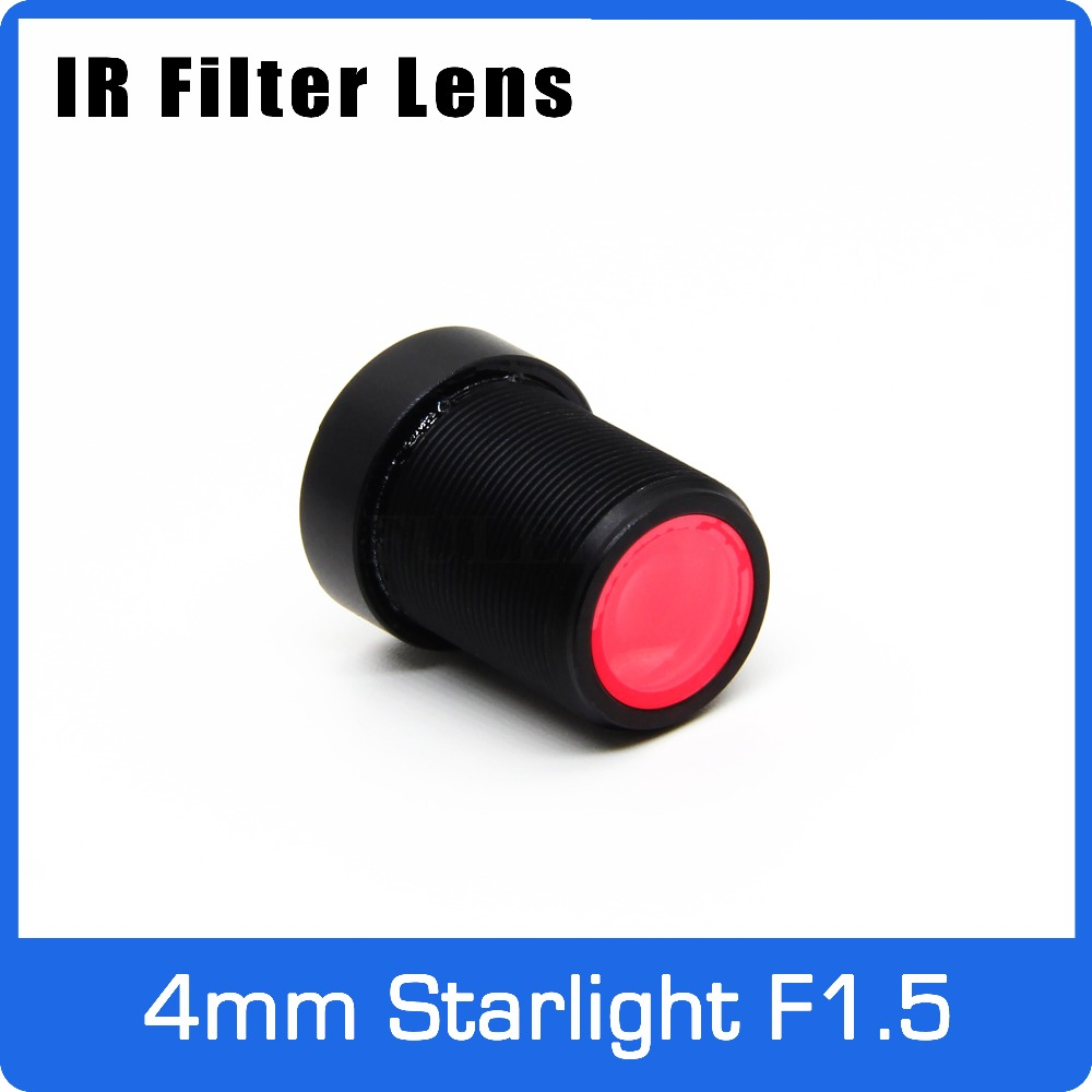 Starlight Lens with IR Filter 3MP 4mm Aperture F1.5 For Action Camera or SONY IMX290/IMX291 Low Light HD CCTV AHD IP Camera