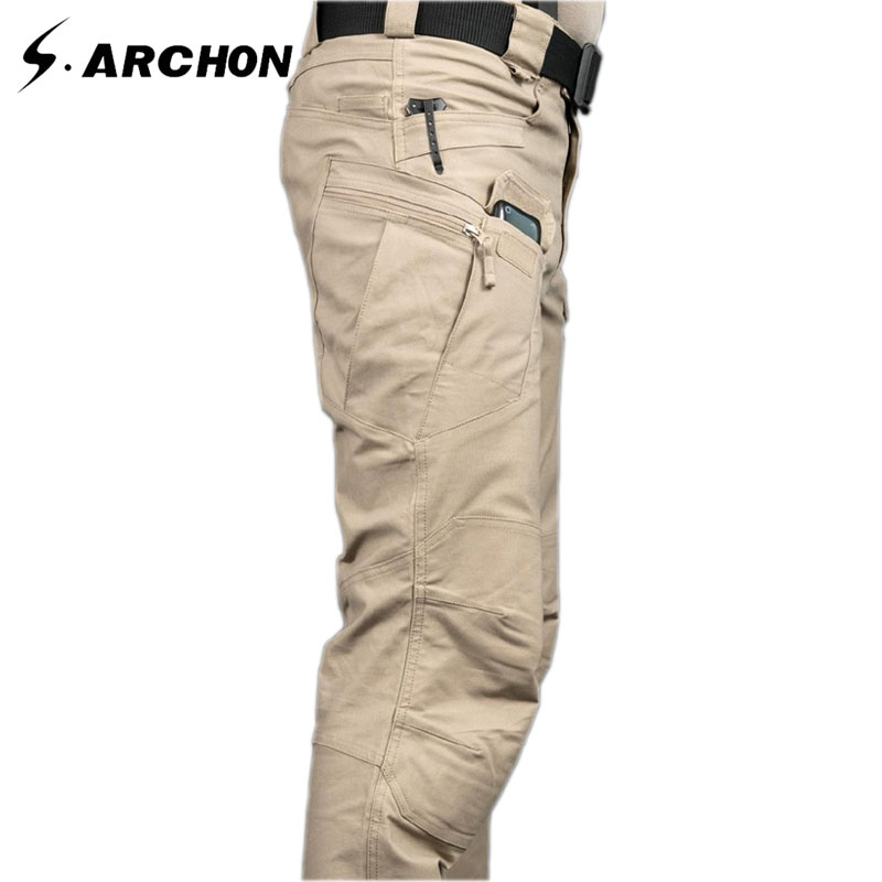s.archon IX7 Outdoor Sports Camping Riding Hiking Tactical Pants Men Trousers For Men Four Seasons Multi-pocket Military Pants mens ripstop tactical pants outdoor camping water repllent hiking pants urban sports trousers army green