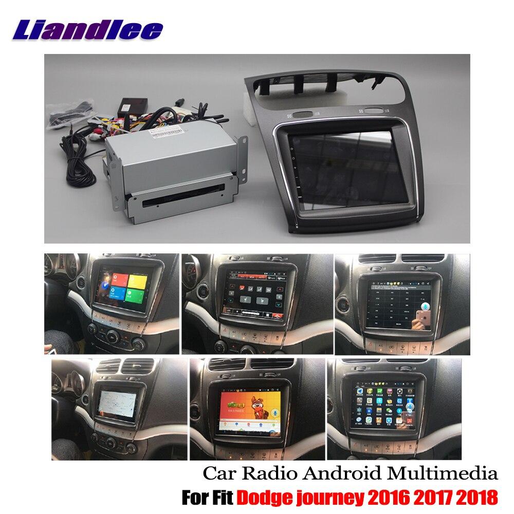 Liandlee pour Dodge journey 2016 2017 2018 Android voiture lecteur CD DVD Radio GPS Navi Navigation cartes caméra OBD TV HD écran