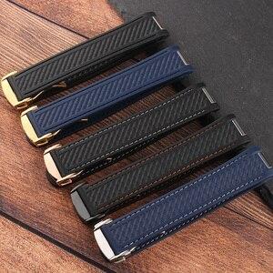 20 мм резиновый ремешок для SEAMASTER AQUA TERRA серии 150 AT8900 черный синий водонепроницаемый силиконовый ремешок для мужских часов