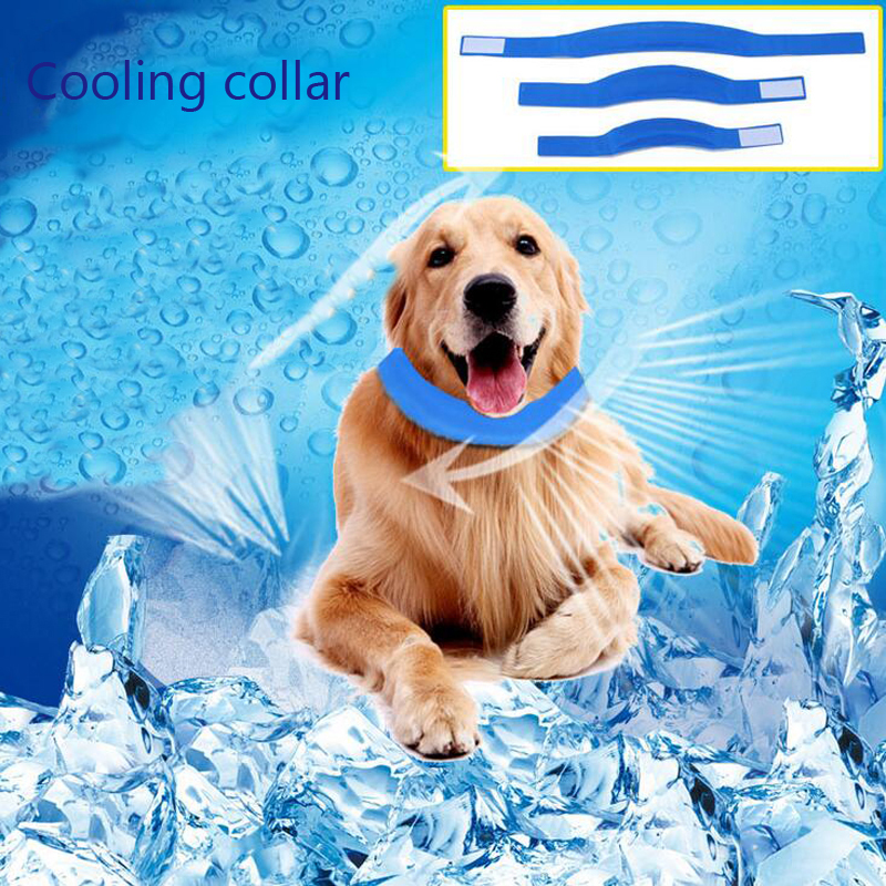 Heatstroke Dog Cooling Collars Gel Material Pet Summer Cat Self Cooling Neck Collar For Small Medium Large Dogs
