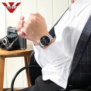 Image 5 - NIBISI умные часы мужские кварцевые наручные часы лучшие брендовые роскошные часы Водонепроницаемый Relogio Masculino best часы для Для мужчин модные серебряные