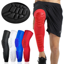 купить 1Pc Breathable Men Honeycomb Long Basketball Knee Pads Leg Sleeve Calf Knee Support Brace Protector Leg Warmers Sports Kneepads по цене 434.93 рублей