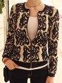 2014 recién llegado de Tricotado otoño y el invierno tendencia nacional Vintage porcelana Crochet Cardigan chaqueta de punto prendas de vestir exteriores