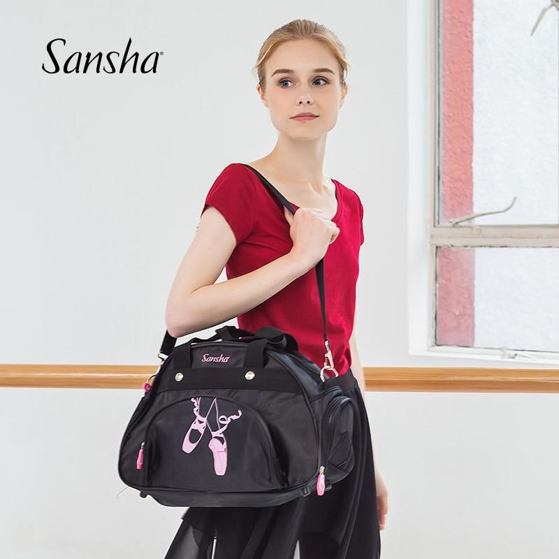 Sansha Ballet-Dance-Bag Sports-Bag Shoulder-Strap Girls Women 15L With Adjustable Gym