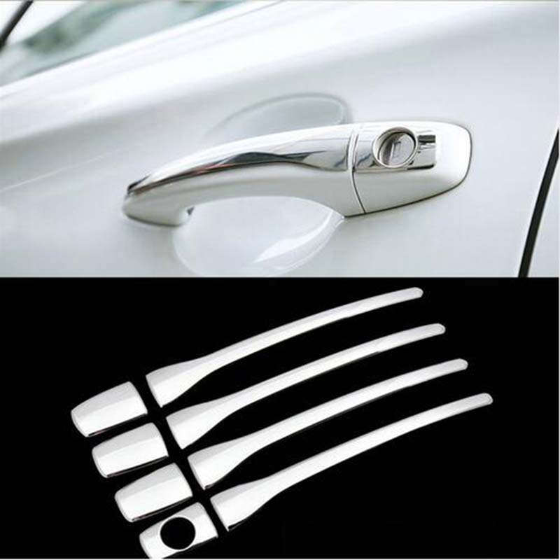 Car Accessories Door handshandle Cover Stainless Steel Chrome plate For <font><b>Peugeot</b></font> <font><b>208</b></font> 3-door 5door hatchback <font><b>GTI</b></font> 2012-2015 2016 image