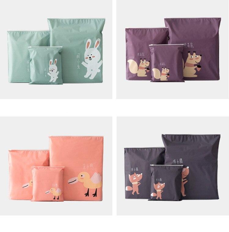eTya Cute New PVC Zipper 3pcs /set Packing Cubes Bag Case Pouch Luggage Packing Organizers Wash Cloth Cosmetic Shoe Bag цена