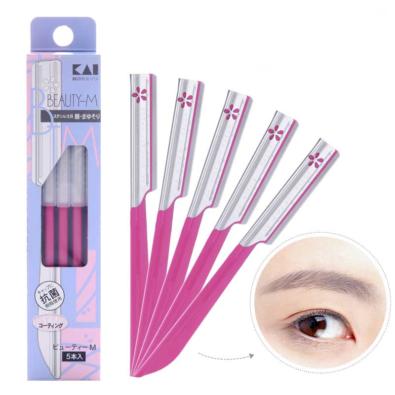 5pcs Eyebrow Epilator Sets For Women Makeup Beauty Eyebrows Hair Removal Styling Tool Steel Blade Facial Sourcil Razor Trimmer